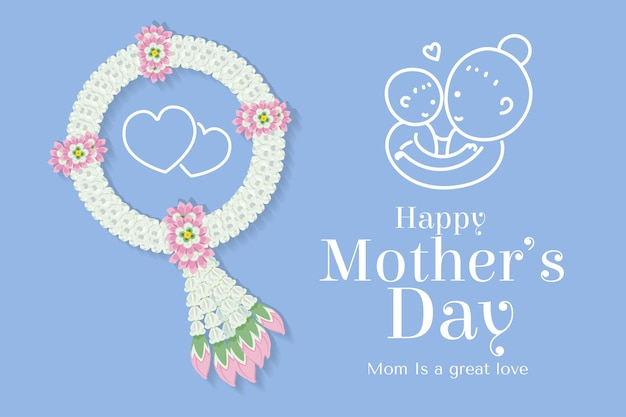 Flower garland for mothers special day