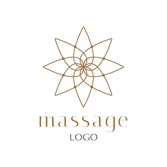Flower gold lotus logo luxury vector design. massage and spa logo