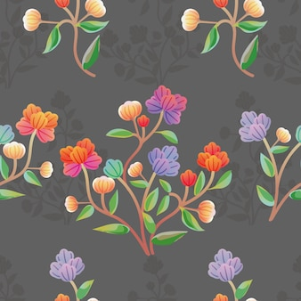 꽃 그래픽 다채로운 완벽 한 패턴입니다.
