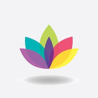 Flower icon. lotus. spa logo design. vector iiilustration