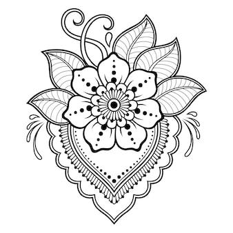 一時的な刺青スタイルの花。