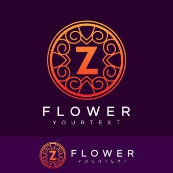 Flower initial letter z logo design