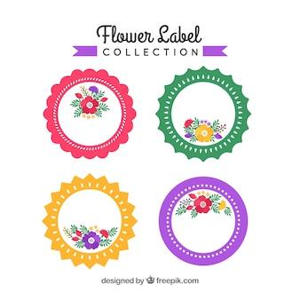 Collezione di etichette per fiori