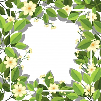 Flower and leaf boarder