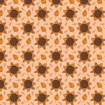 Цветочный лист природа осенний узор для фона обои текстура