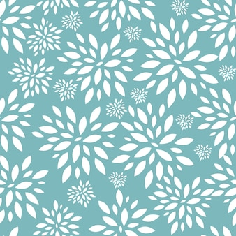 花の葉のシームレスなパターンの背景ベクトルイラスト。 eps10