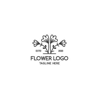 Значок линии цветка. плоский цветок иллюстрация