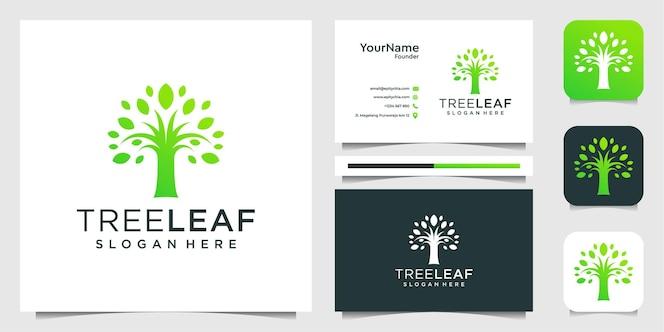 Logo di ispirazione linea di fiori e design di biglietti da visita