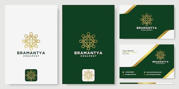 花のロゴ、抽象的な円のデザインベクトルテンプレート花のアイコン、化粧品、ホテル、ビューティーサロンサロンのロゴ