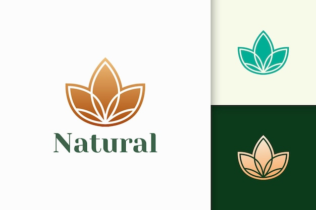 Flower logo in abstract and luxury style for health and beauty