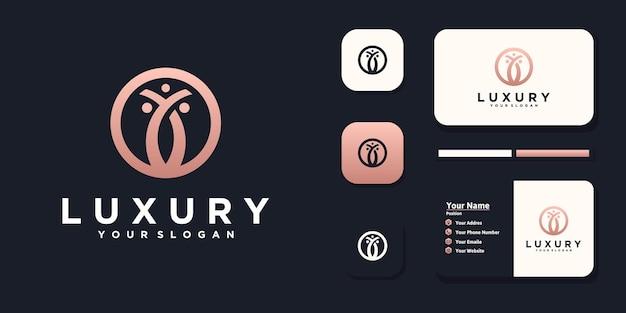 Цветочный логотип, косметический логотип, йога, салон красоты, логотип для бизнеса