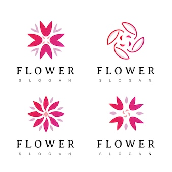 Flower logo for cosmetics, spa, hotel, beauty salon, decoration, boutique logo.
