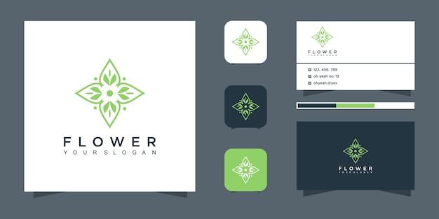 꽃 로고 디자인 및 명함.