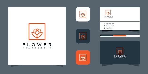 Flower logo design and business card.