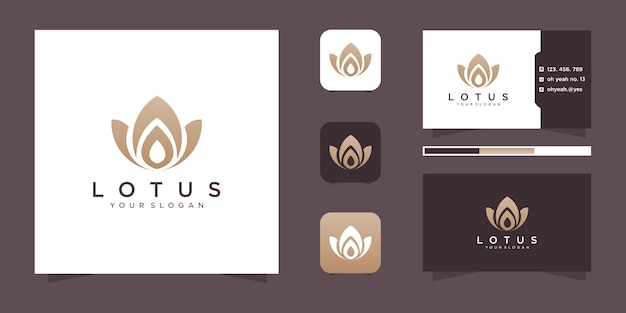 Flower logo design and business card.