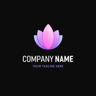 Цветочный дизайн логотипа. градиент стиль абстрактный логотип