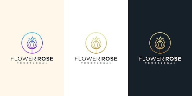 花のロゴのデザインイラスト