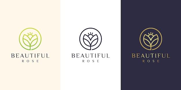 Цветочный дизайн логотипа иллюстрации
