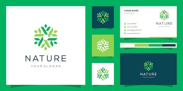 Цветочный дизайн логотипа. логотипы можно использовать для спа, салона красоты, украшения, бутика. и визитная карточка.
