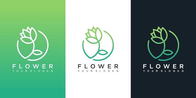 さまざまな色の花のロゴのデザインテンプレート