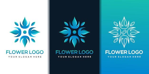 Цветочный шаблон дизайна логотипа