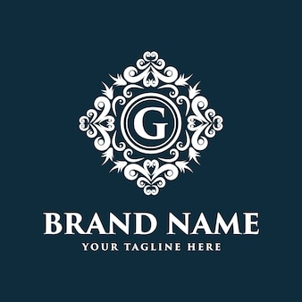 ラインアート風のフラワーロゴデザイン。ロゴはスパ、ビューティーサロン、装飾、ブティックに使用できます。