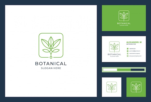 Flower logo design with line art style. logos can be used for spa, beauty salon, decoration, boutique, wellness, bloom, botanical and business card