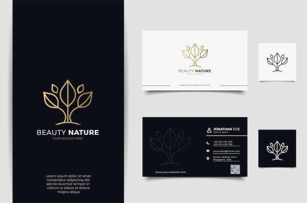 Flower logo design with line art style. logos can be used for spa, beauty salon, decoration, boutique