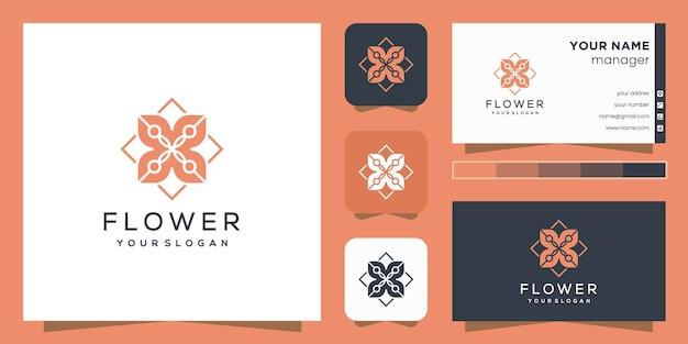 花のロゴデザイン