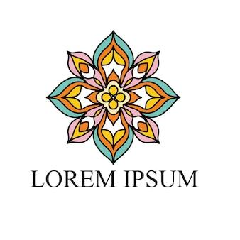 Цветочный дизайн логотипа