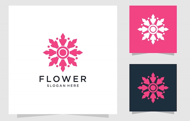 꽃 로고 디자인