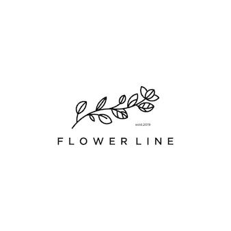 최소한의 선으로 그려진 꽃 로고
