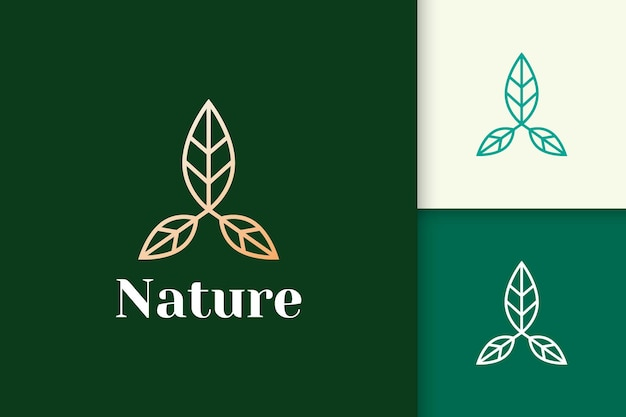 Flower logo in feminine and luxury line shape for health and beauty