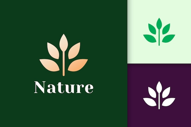 Flower logo in feminine and luxury style for health and beauty