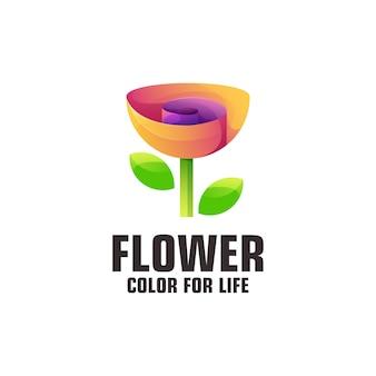 Flower logo illustration colorful gradient