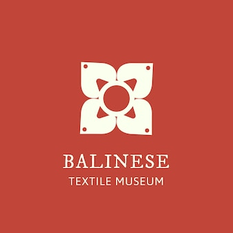 Цветочный логотип для брендинга