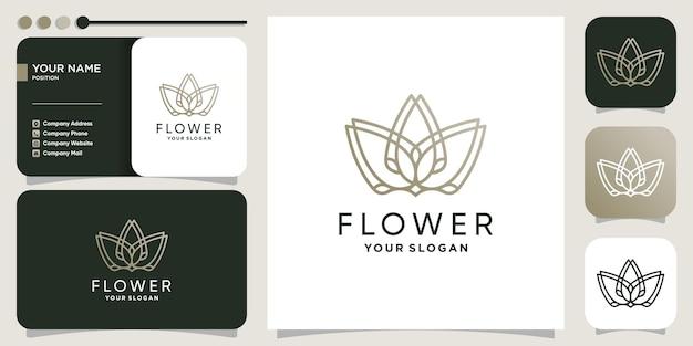 Цветочный логотип с творческой абстрактной концепцией premium векторы