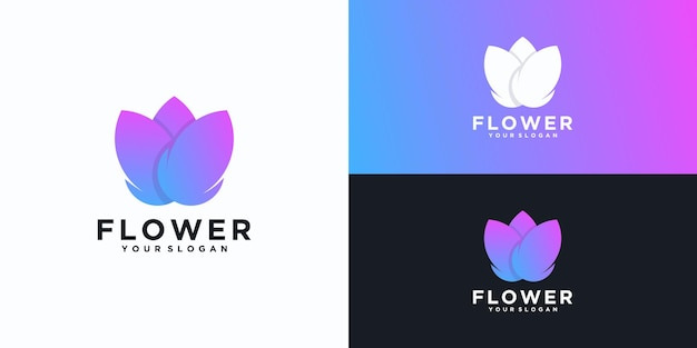 Цветочный логотип, вдохновляющий для бизнеса Premium векторы