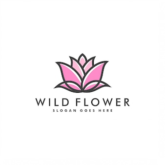 Flower logo template design logo vector