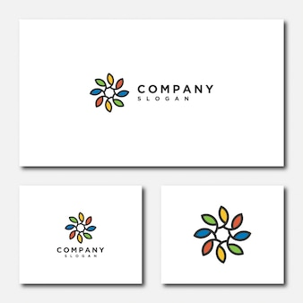 Flower logo  template  illustration