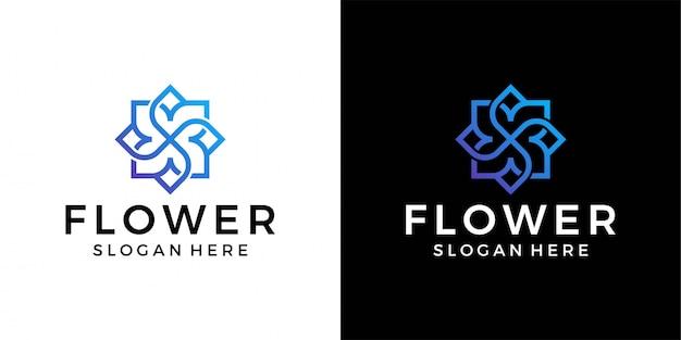Цветочный шаблон логотипа