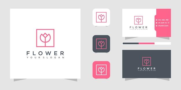 Цветочный логотип шаблон