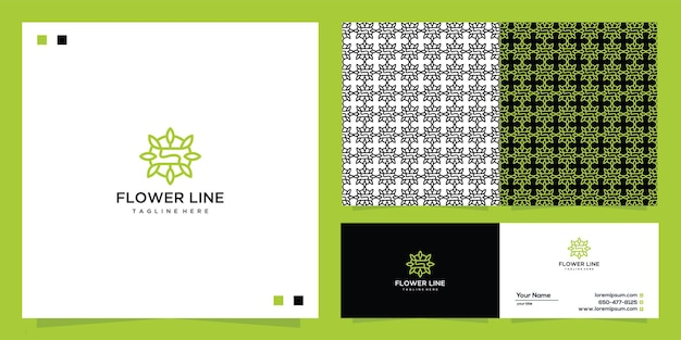 Flower logo vector graphic design