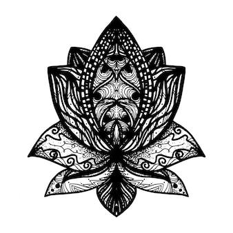 Тату цветок лотоса