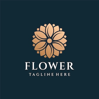 Flower luxury gold logo design inspiration.