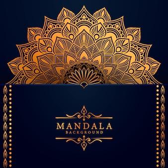 Flower luxury mandala background arabesque style