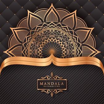 Цветочная роскошная мандала в стиле арабески