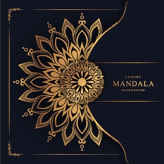 Flower luxury mandala background arabesque style