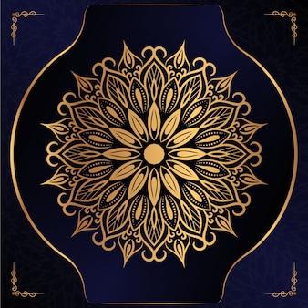 Цветочная роскошная мандала фон в стиле арабески