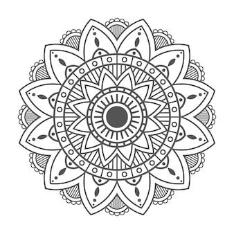 白い背景に花曼荼羅